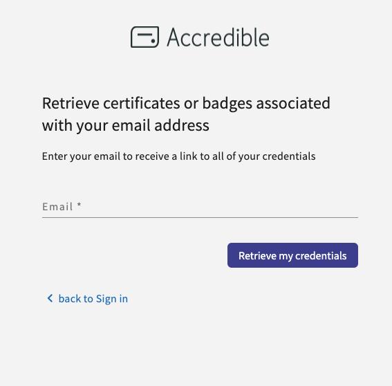 How Can Recipients Retrieve Their Own Credentials