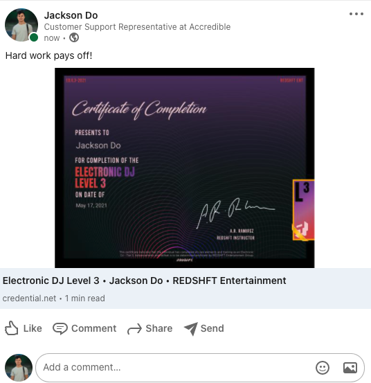 How Do I Add My Credential to LinkedIn 2