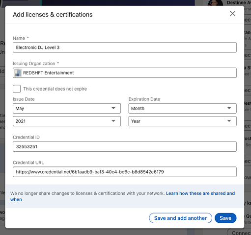 How Do I Add My Credential to LinkedIn 5